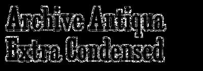 Archive Antiqua Extra Condensed