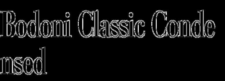 Bodoni Classic Condensed