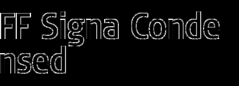 FF Signa Condensed