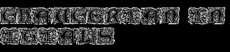 Chaucerian Initials