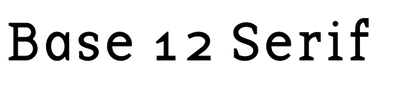 Base 12 Serif