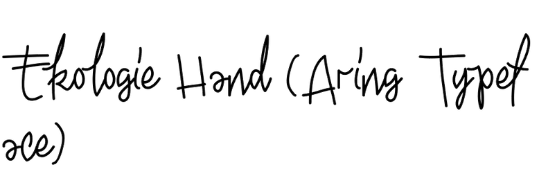 Ekologie Hand (Aring Typeface)