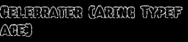 Celebrater (Aring Typeface)