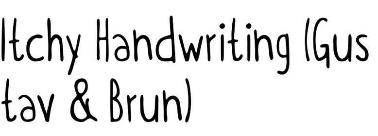 Itchy Handwriting (Gustav & Brun)