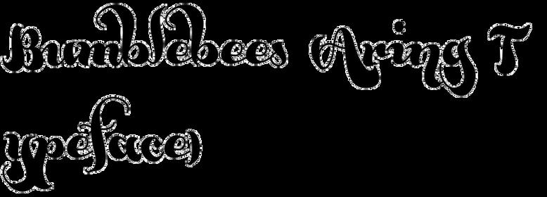 Bumblebees (Aring Typeface)