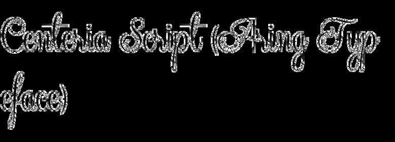 Centeria Script (Aring Typeface)