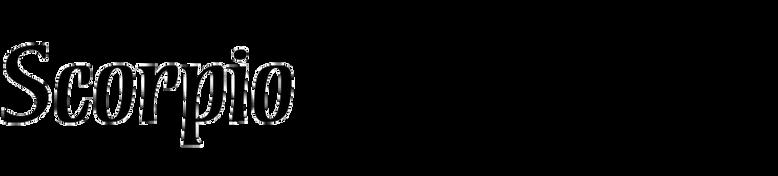 Scorpio (Fine Fonts)