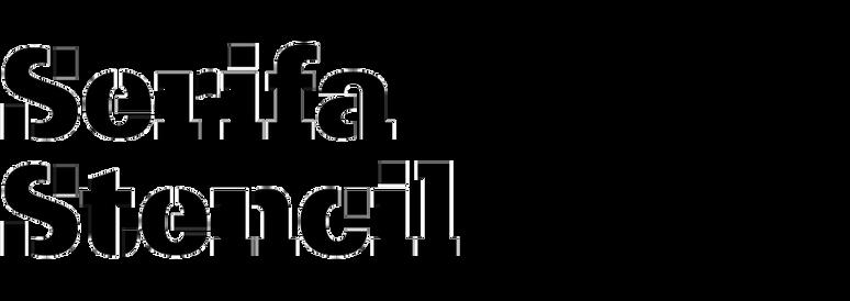 Serifa Stencil Bold