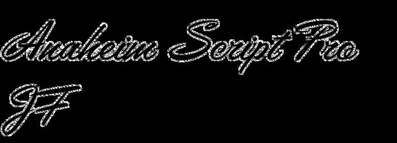 Anaheim Script JF
