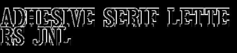 Adhesive Serif Letters JNL