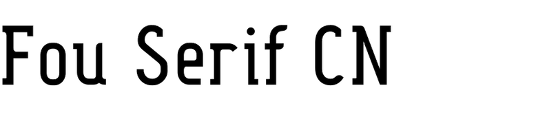 Fou Serif CN