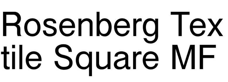 Rosenberg Textile Square MF