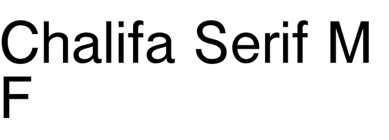 Chalifa Serif MF