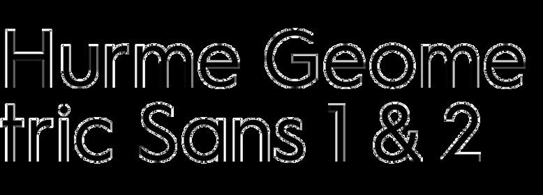Hurme Geometric Sans 1 & 2