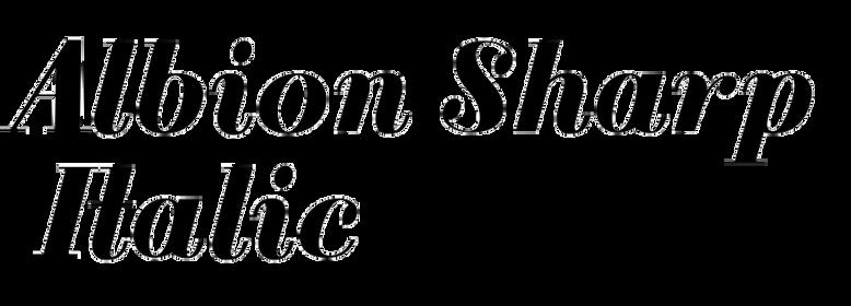 Albion Sharp Italic