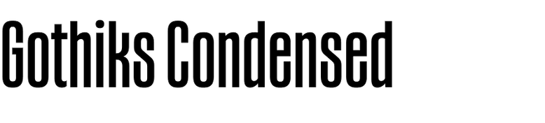 Gothiks Condensed