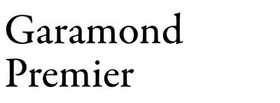 Image of garamond premier
