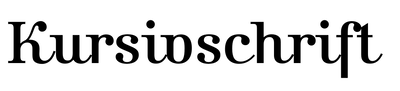 Kursivschrift