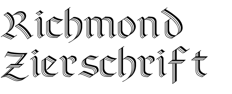 Richmond Zierschrift