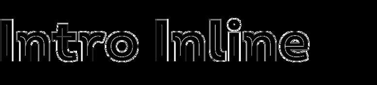 Intro Black Inline