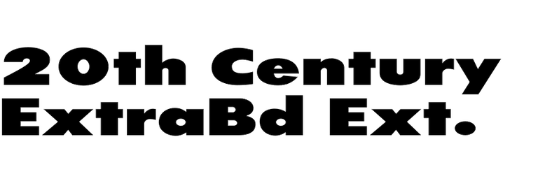 20th Century ExtraBold Extended