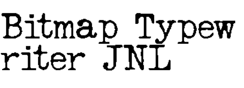 Bitmap Typewriter JNL
