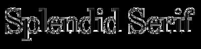 Splendid Serif