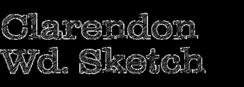 Clarendon Wide Sketch
