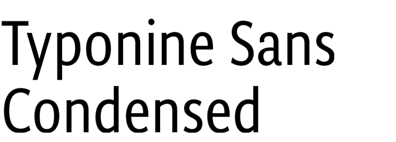 Typonine Sans Condensed