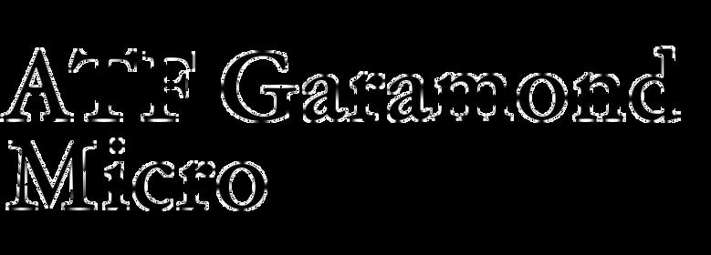 ATF Garamond Micro