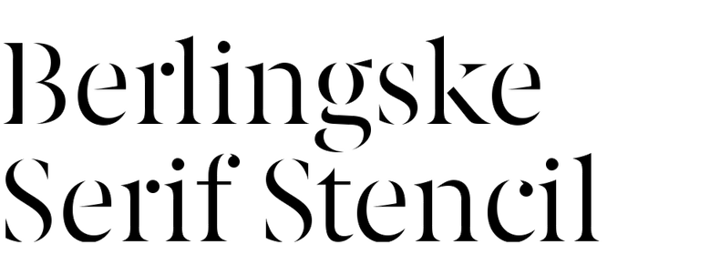 Berlingske Serif Stencil