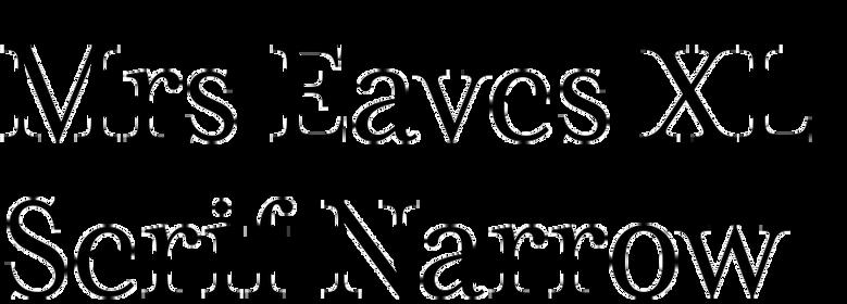 Mrs Eaves XL Serif Narrow