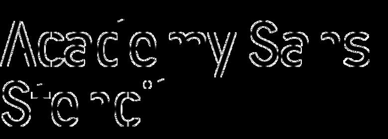 Academy Sans Stencil