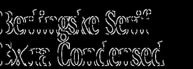 Berlingske Serif Extra Condensed