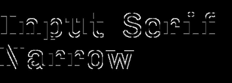 Input Serif Narrow