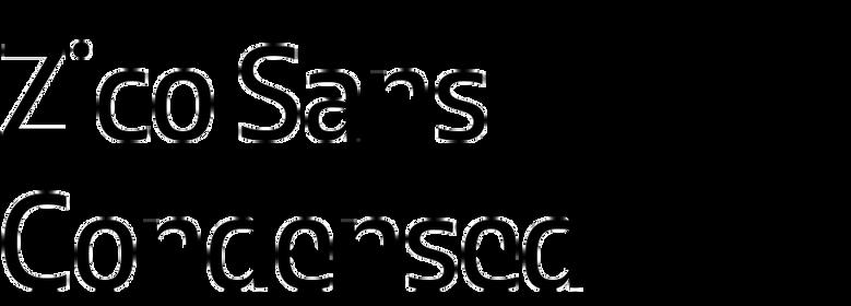 Zico Sans Condensed