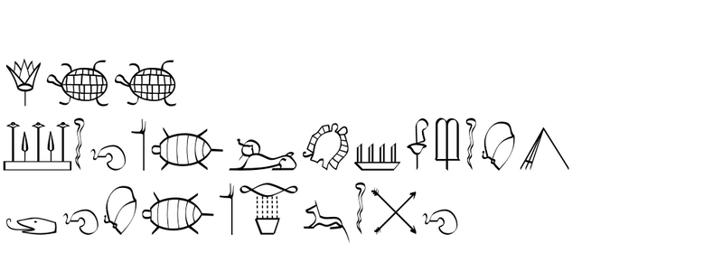 P22 Hieroglyphics Decorative