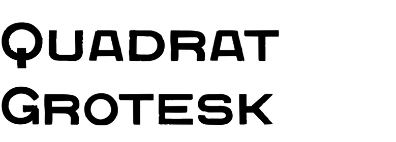 Quadrat Grotesk
