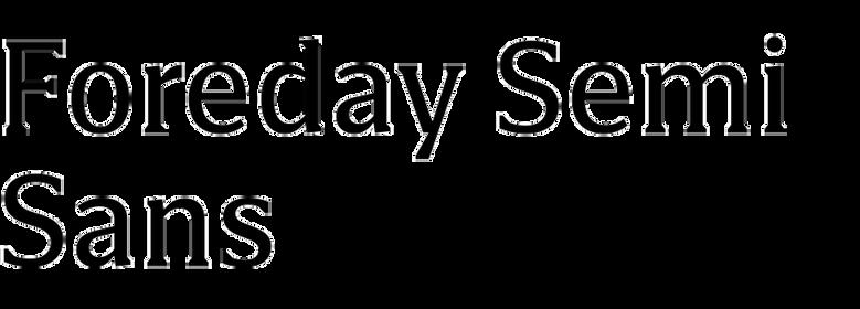 Foreday Semi Sans