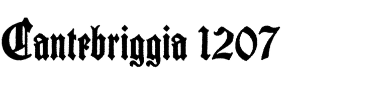 Cantebriggia 1207