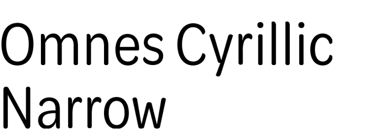 Omnes Cyrillic Narrow
