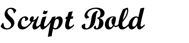 Monotype Script Bold