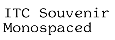 ITC Souvenir Monospaced