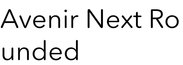 Avenir Next Rounded in use - Fonts In Use