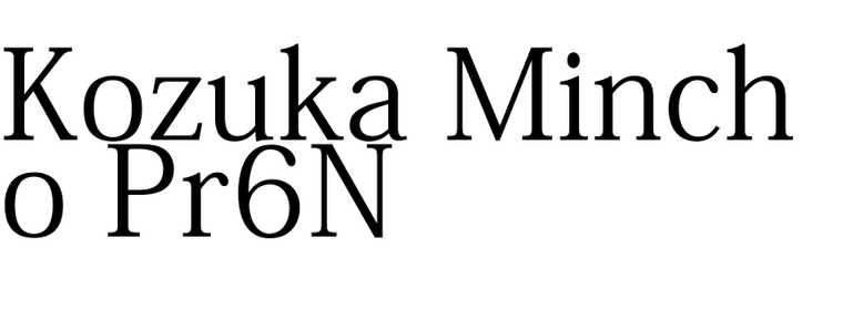 Kozuka Mincho Pr6N (Adobe)