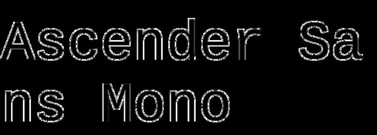 Ascender Sans Mono (Ascender)