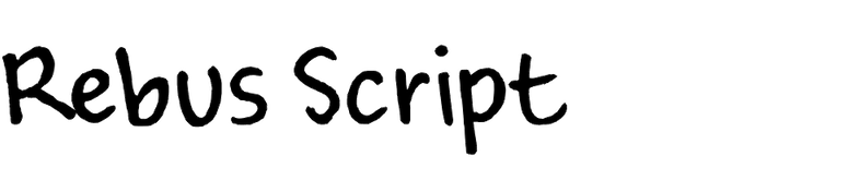 Rebus Script (Ascender)