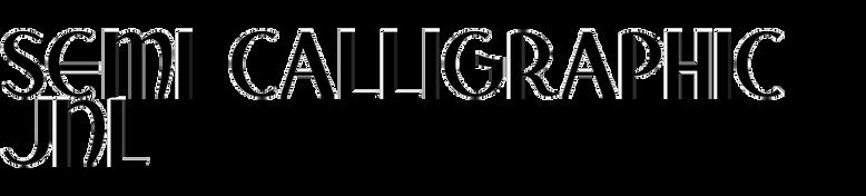 Semi Calligraphic JNL