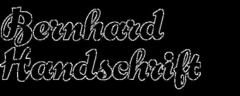 Bernhard Handschrift