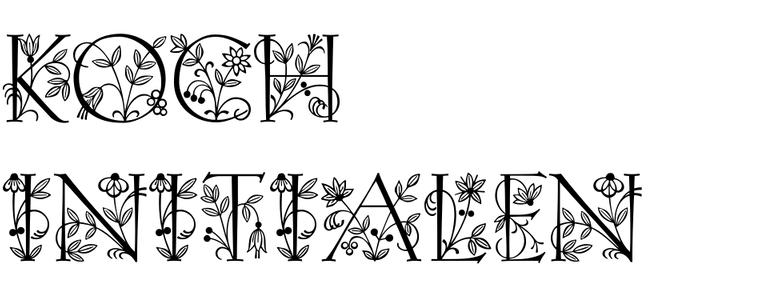 Koch-Antiqua Initialen